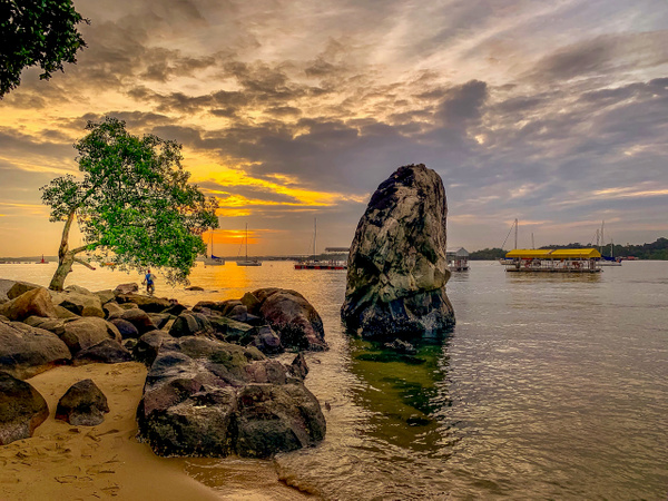 Sunset at Changi Beach by Andrew Tan