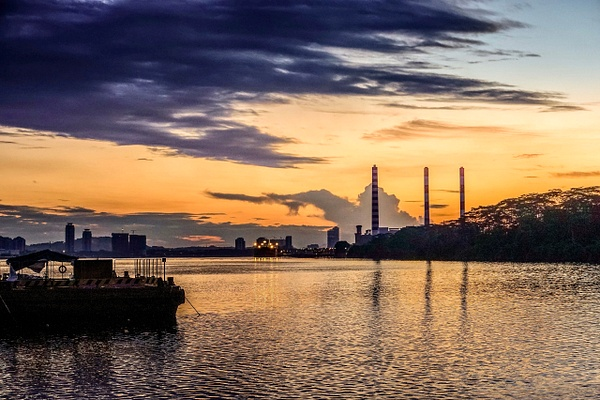 Sunset/Sunrise at Woodlands Waterfront Park by Andrew Tan