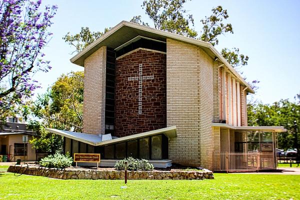 John Flynn Church, Alice Springs by...