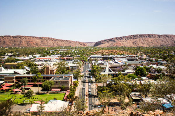 Alice Springs, from Anzac Hill by DavidParkerPhotography