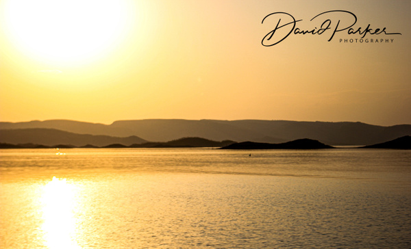 Sunset over Lake Argyle by DavidParkerPhotography