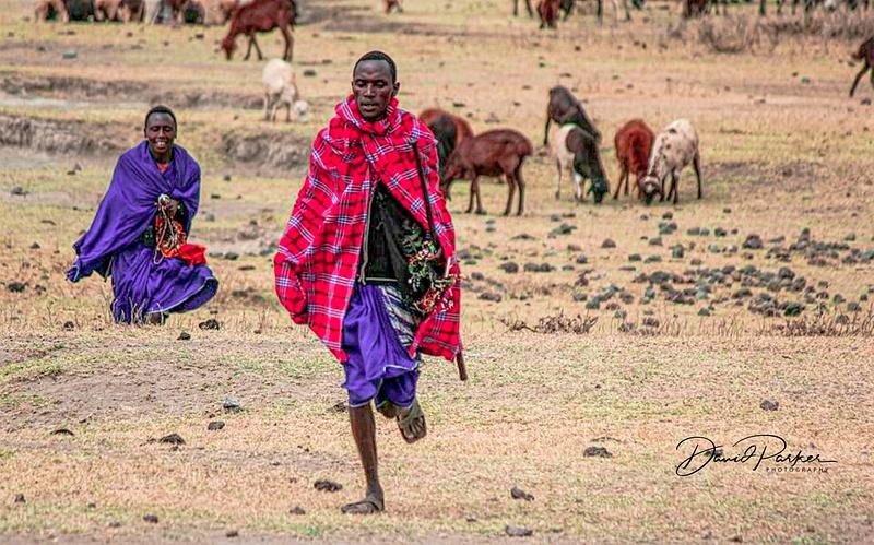 Massai on the Serengeti