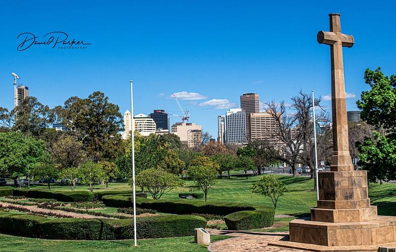 War Memorial Garden, and Adelaide CBD