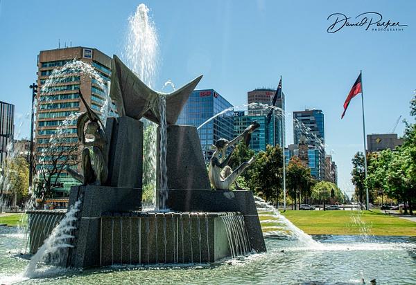 Three Rivers Fountain, Victoria Square by...