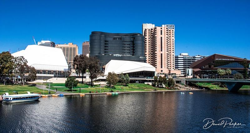 (L-R) Adelaide Festival Centre, SkyCity (Casino) Terrace Intercontinetal Hotel