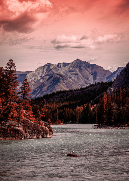 Downstream from Bow Falls by BarbaraRothPhotography