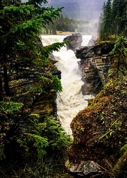 Athabasca Falls by BarbaraRothPhotography