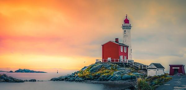 Fisgard Lighthouse at Sunset - Landscape - McKinlay Photo