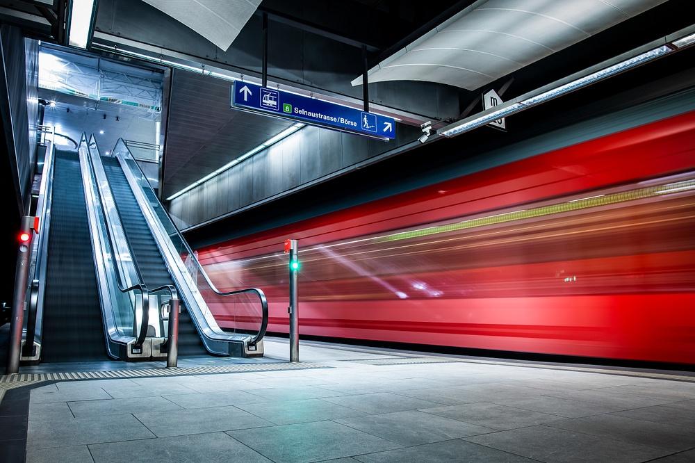 Escalator trainstation near Zürich