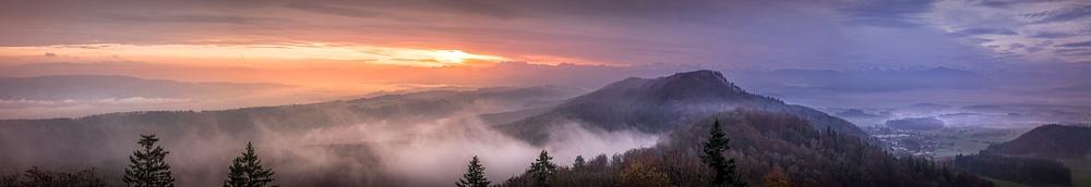 Sonnenaufgang auf dem Albis_Pano-
