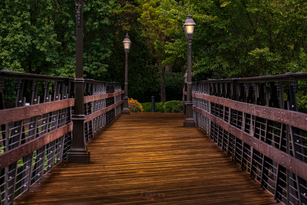 HP Footbridge at dusk after rain (1 of 1) - Texas - KDS Imagery Photography