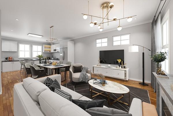 Living_dining_kitchen-after - Virtual Renovation - Stellar Real Estate Marketing