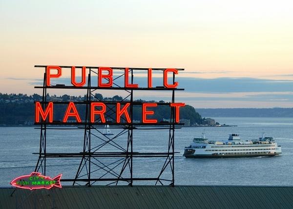 Seattle: From Pike Place Market looking towards W. Seattle (Alki) - Spotlight: Seattle - Jonathan C. Watson Photography
