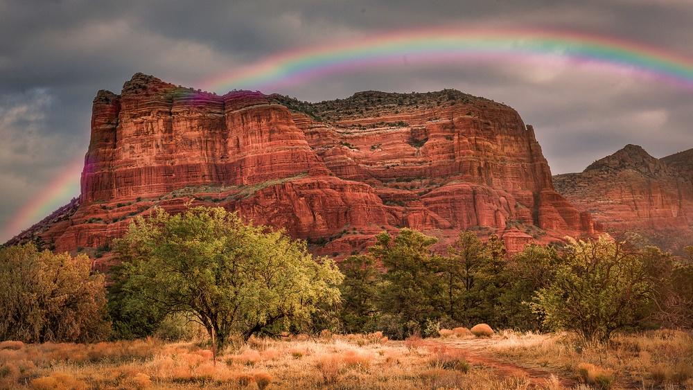 Rainbow over Sedona
