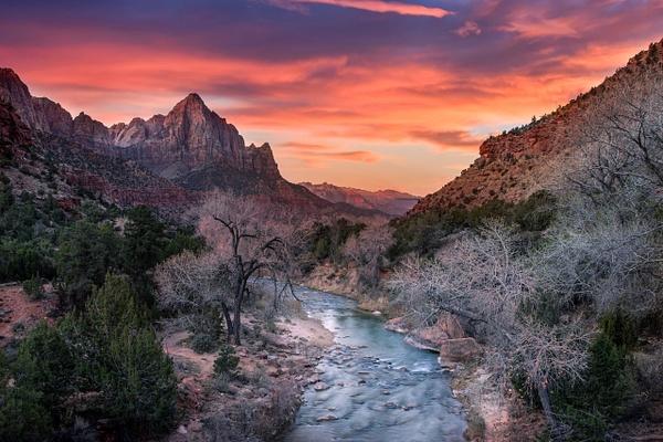 Zion Sunset - Fine Art Photographer and Wall Art Photography