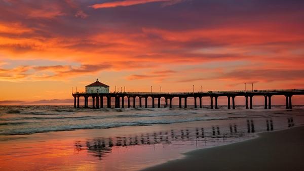 Manhattan Beach Sunset-1 - Fine Art Photographer and Wall Art Photography