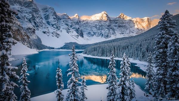 Moraine Lake under snow 3510 4k sRGB - Landscapes - Tim Shields Landscape Photography