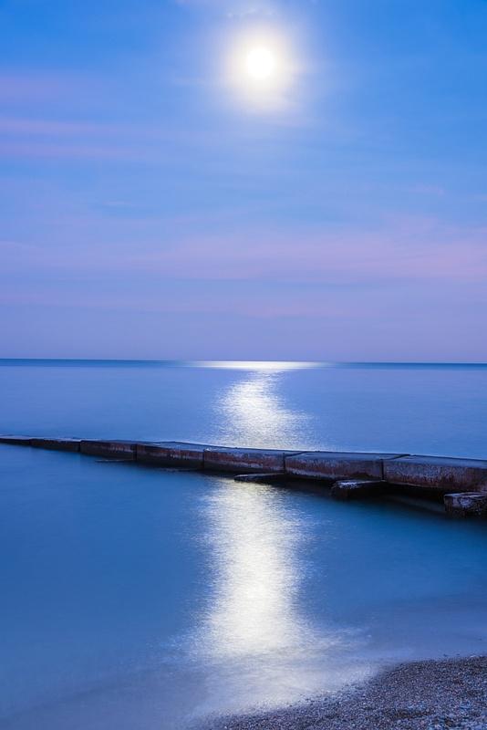 Blue Hour Lake Michigan