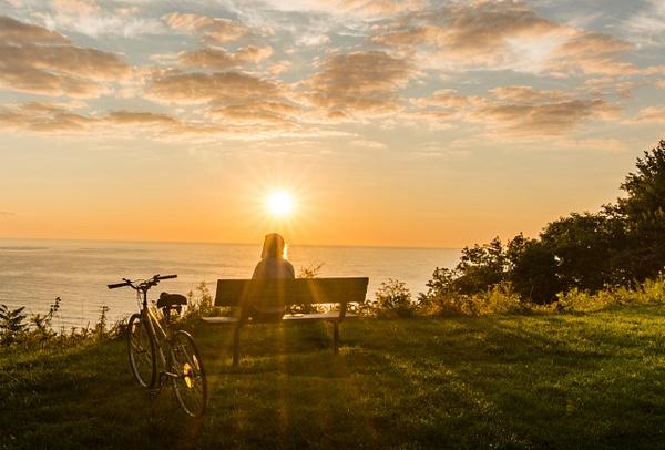 Sunrise Admirer, Milwaukee by Jack Kleinman