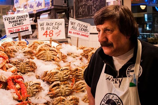 Fishmonger, Seattle by Jack Kleinman