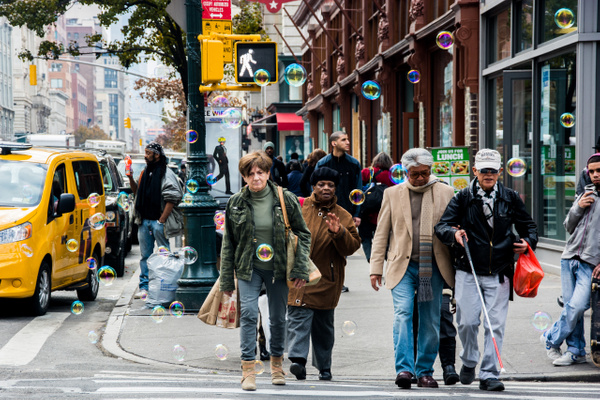 Bubble Man, New York - People - Jack Kleinman Photography