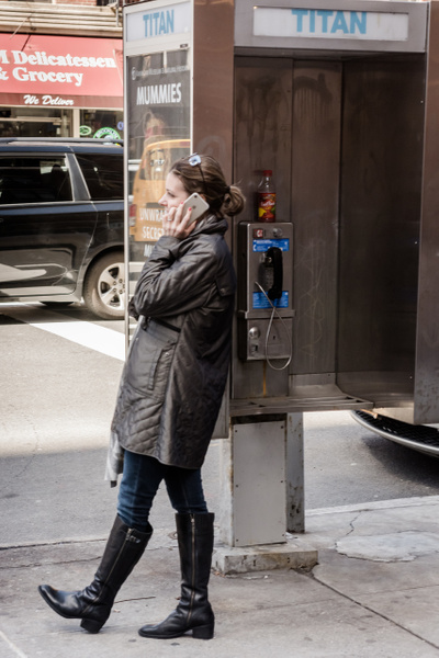 Forlorn Phone Booth, New York - People - Jack Kleinman Photography