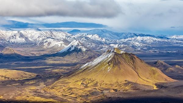 56. fm Vatnafjöll to Langjökull - ICELAND - Aerial Views - François Scheffen Photography
