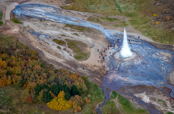 72. Strokkur - ICELAND - Aerial Views 2012 - François Scheffen Photography