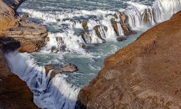 71. Gullfoss - ICELAND - Aerial Views 2012 - François Scheffen Photography