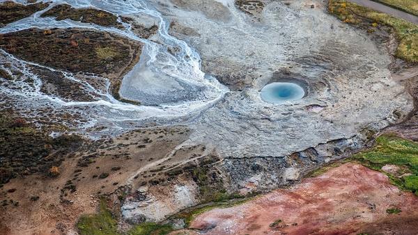 73. Strokkur - ICELAND - Aerial Views 2012 - François Scheffen Photography