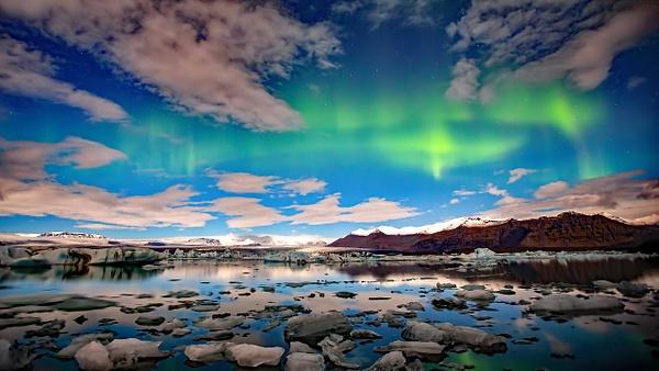 BL2P2176yyx Aurora borealis Jökulsárlón - ICELAND - October 2012 - François Scheffen Photography