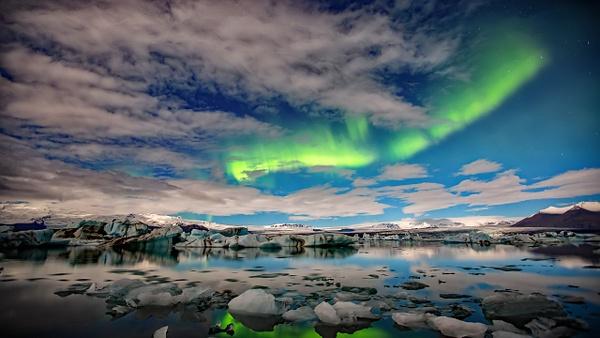 BL2P2202yy Aurora borealis Jökulsárlón - ICELAND - October 2012 - François Scheffen Photography
