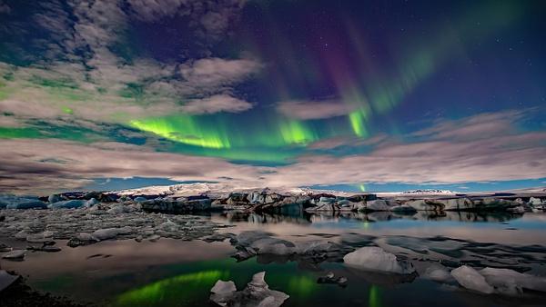 BL2P2332yy Aurora borealis Jökulsárlón - ICELAND - October 2012 - François Scheffen Photography