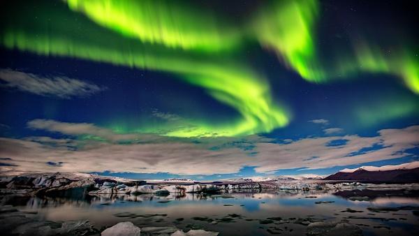 BL2P2382y Aurora borealis Jökulsárlón - ICELAND - October 2012 - François Scheffen Photography