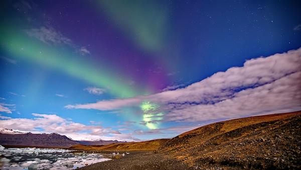 BL2P2510y Aurora borealis Jökulsárlón - ICELAND - October 2012 - François Scheffen Photography