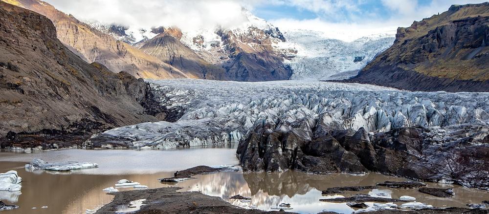 BL2P1190 pano Svínafellsjökull, Nationalpark Skaftafell