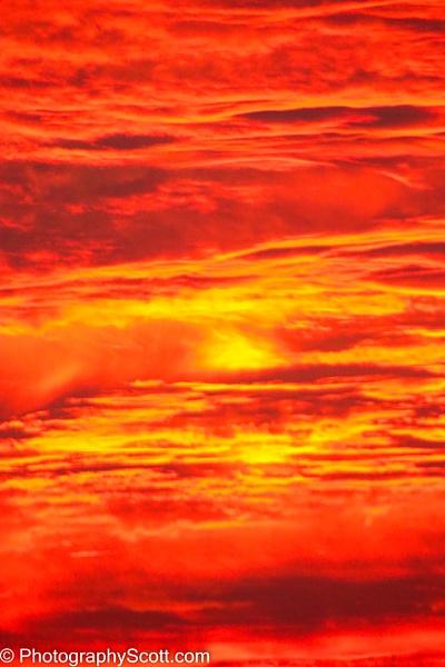 Fire in the Sky - Golden Hours - PhotographyScott