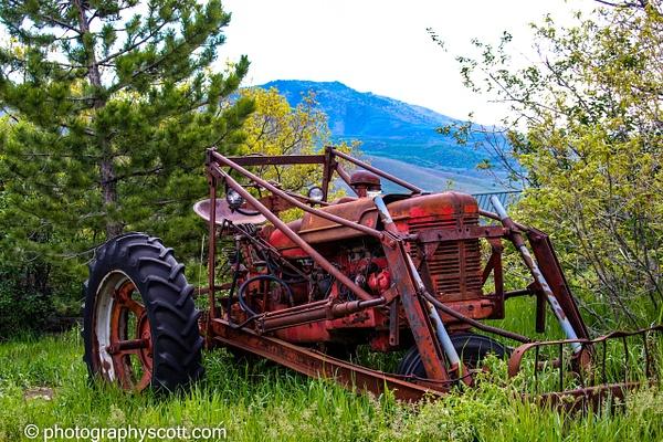 Old Tractor in Eden - Utah - Photography Scott
