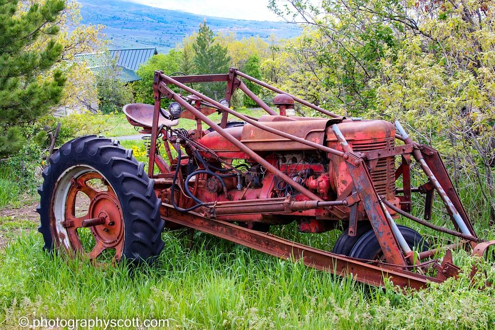 Old Farm Tractor In Eden, Utah