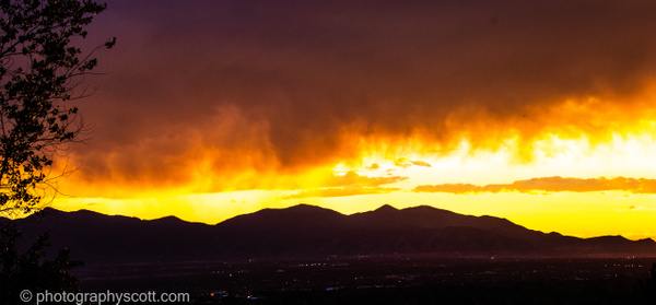 Salt Lake City Sunset - Golden Hours - PhotographyScott