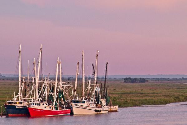 Darien Shrimp Boats 3 - Shore Landscapes - Phil Mason Photography