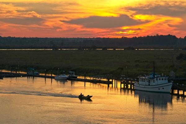 Darien River Sunset - Shore Landscapes - Phil Mason Photography