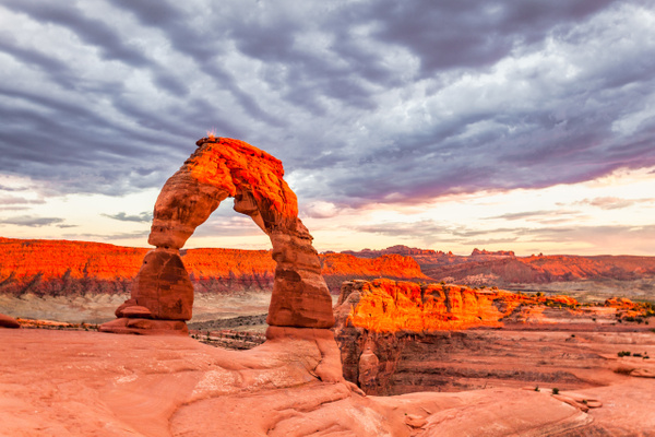 Delicate Arch Sunset - National Parks - Klevens Photography