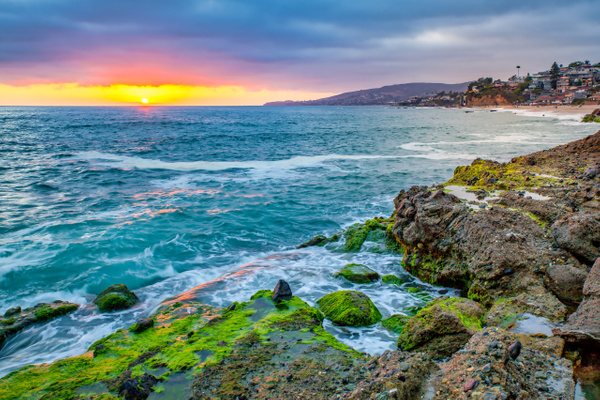 Colorful Laguna Sunset - Beachscapes - Klevens Photography