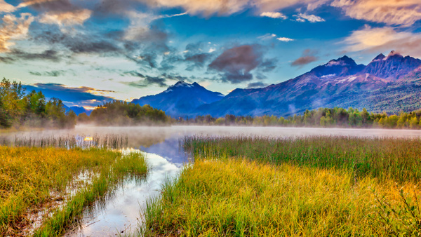 Alaska Morning Mist - Naturescapes - Klevens Photography