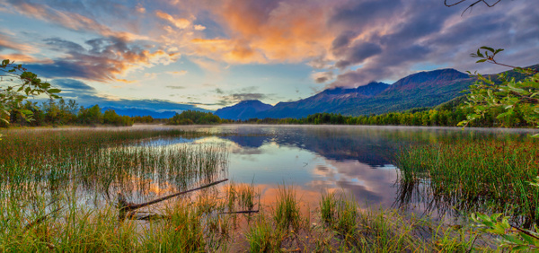 Alaska Sunrise Pano - Naturescapes - Klevens Photography