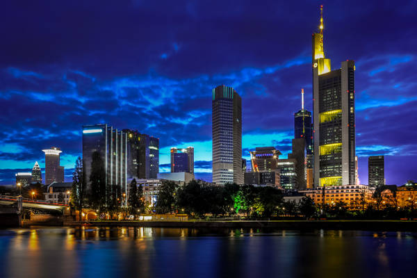 Frankfurt am Main by night - Cityscape - Michel Voogd Photography