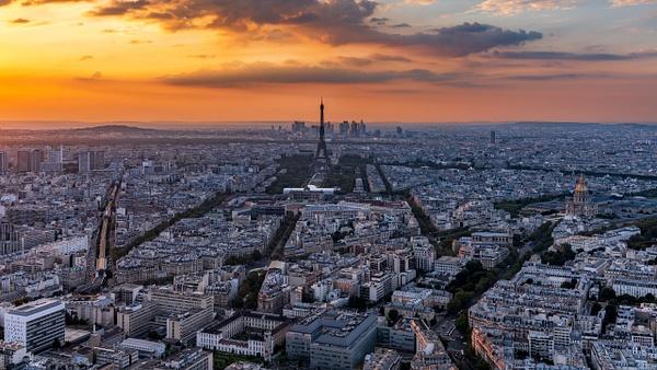 Paris Skyline Sunset - Cityscape - Michel Voogd Photography