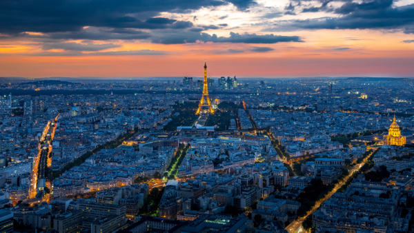 Paris Skyline at night - Cityscape - Michel Voogd Photography