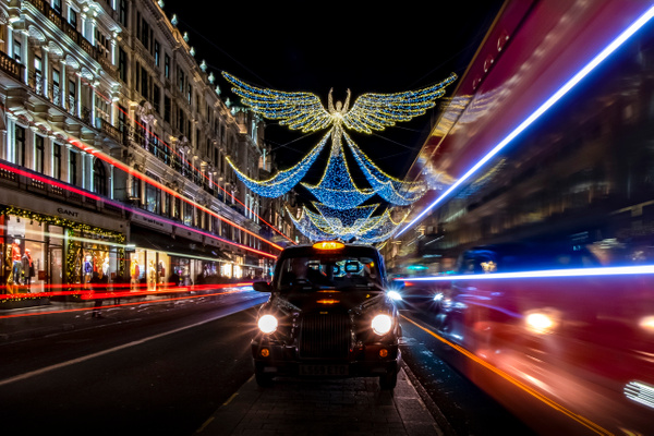 London's West End Christmas lights by Doug Stratton